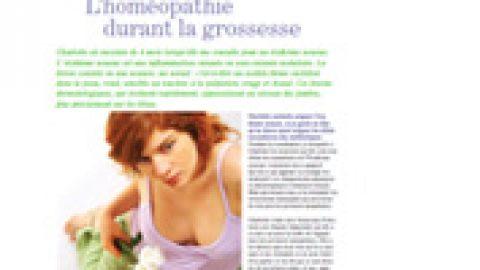 L'homéopathie durant la grossesse : érythème noueux