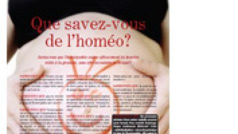 (Français) L'homéopathie soigne efficacement les troubles reliés à la grossesse